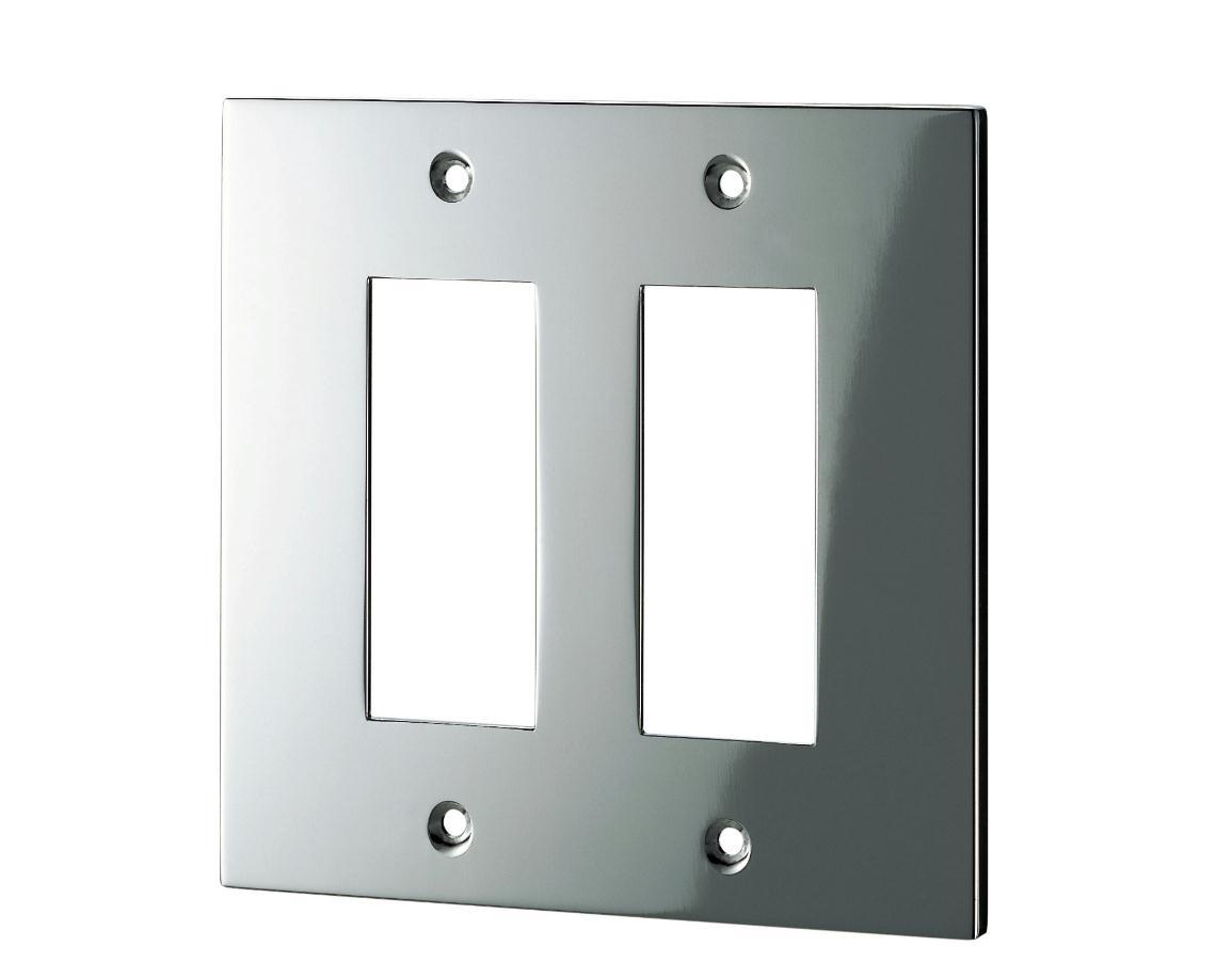 スイッチプレート(真鍮・鏡面シルバー) 38S 80×126×6.5