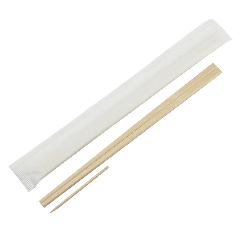 割箸 完封箸白樺元禄8寸楊枝入(白ムジ) 100膳