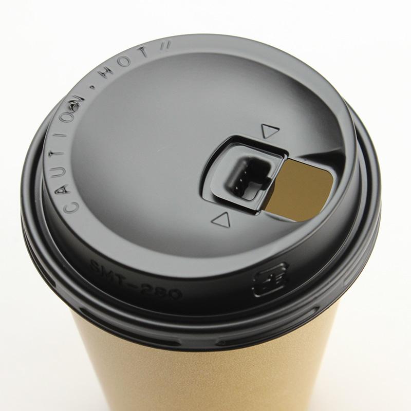 紙コップ蓋 トーカン リフトアップリッド SMT-280-LF 黒 100個
