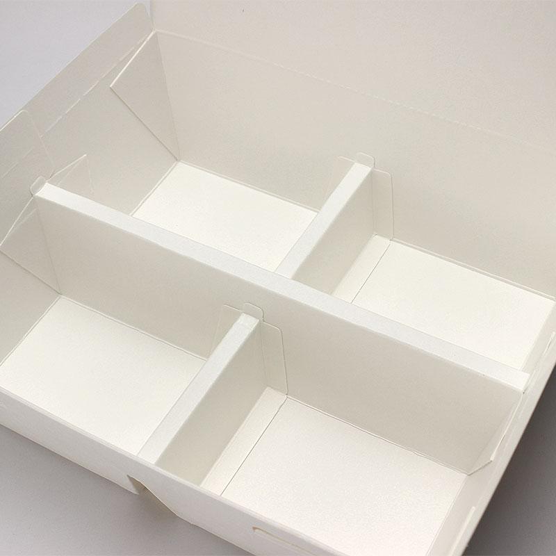 紙製弁当容器 ランチボックス 白無地 200個