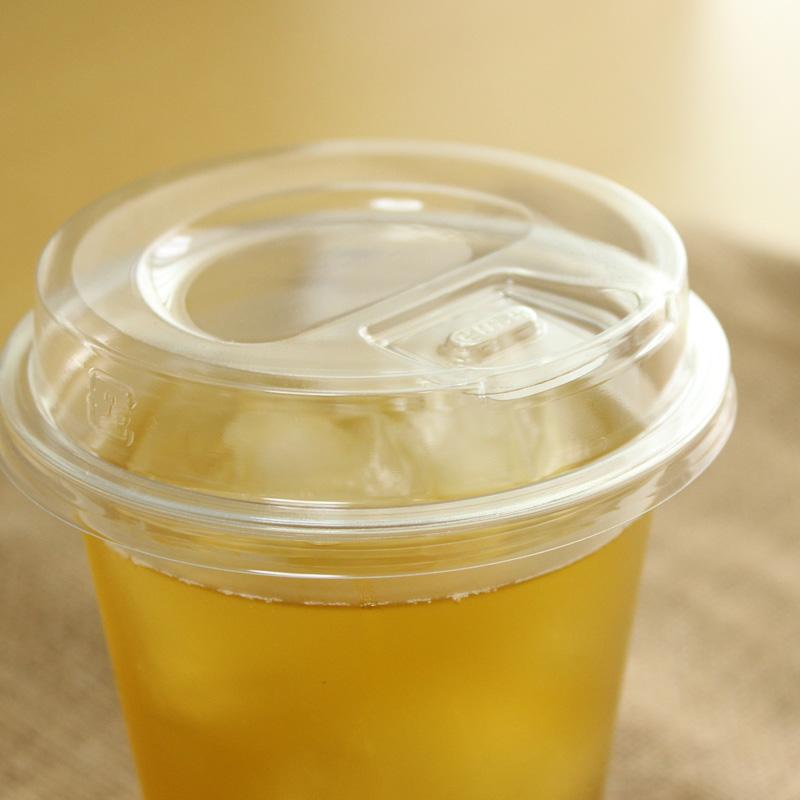 プラスチックカップ蓋 TAPS92 Φ用ストローレスリッド(プッシュダウン式) 2,000枚