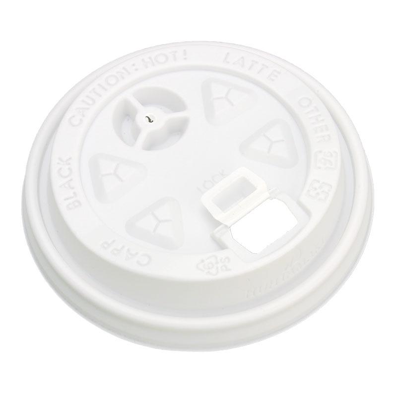 紙コップ蓋 ダブルウォール ユニ専用 プラスリッド 8・12オンス 白 1,000枚