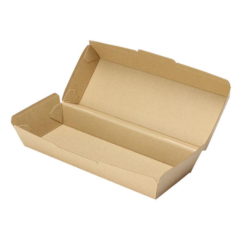 ホットドッグカートン(未晒) テイクアウト用クラフトボックス 50個