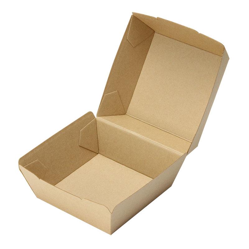ハンバーガー容器 バーガーカートン(未晒) テイクアウト用クラフトボックス 50個