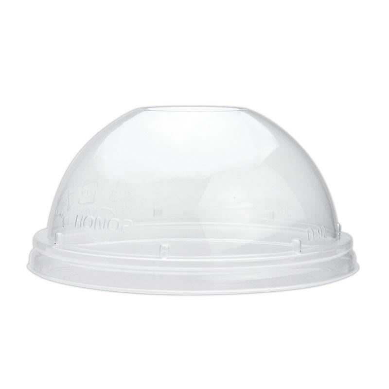 プラスチックカップ蓋 HONOR 9・12オンス用 ドームリッド 穴有 D-92 50個
