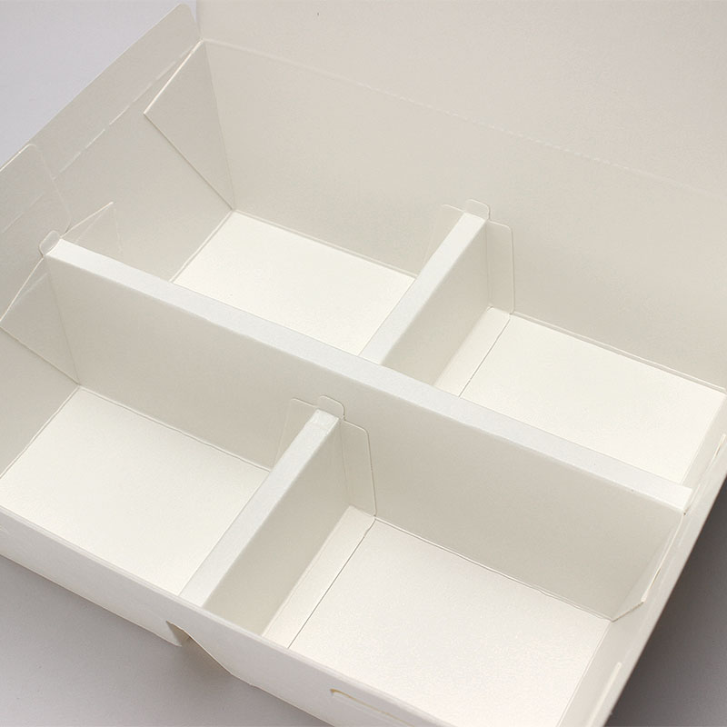 紙製弁当容器 ランチボックス 白無地 50個