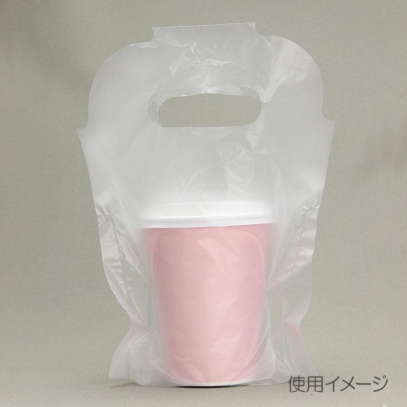 ドリンク持ち帰りバッグ キャリーカップ 1個用 テイクアウト手提げ袋 100枚