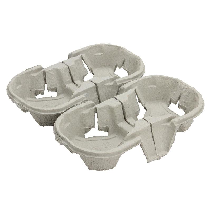 カップホルダー パルプモールドドリンクキャリア (4穴) テイクアウト用 330個