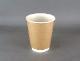 紙コップ蓋付 断熱紙コップ 二重断熱カップ 8オンス クラフト トラベラーリッド クロ 100個セット
