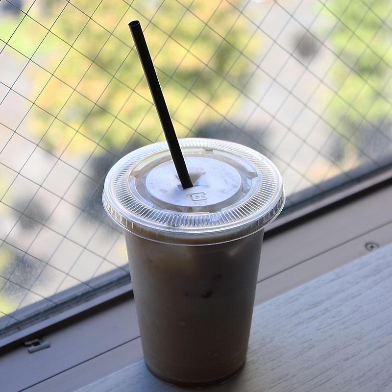 Cafeバイオマスストロー ストレート 6x210mm 黒 紙袋 500本