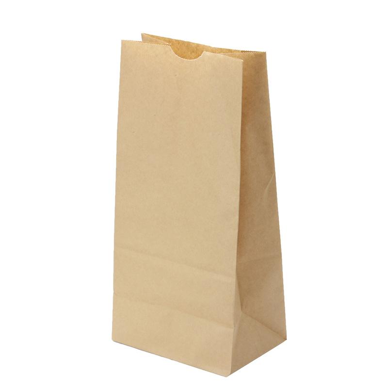 紙袋 角底袋 8号 未晒 テイクアウト用 500枚