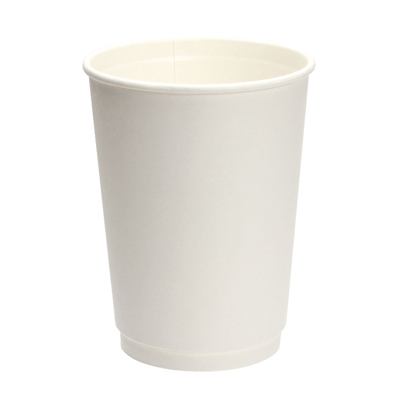 断熱紙コップ 12オンス 二重断熱 ダブルウォールカップ ユニ 白 500個