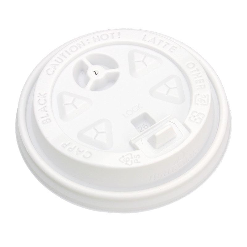 紙コップ蓋 ダブルウォール ユニ専用 プラスリッド 8・12オンス 白 100枚
