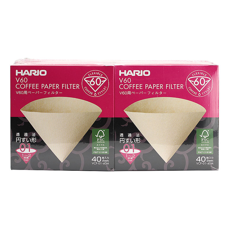 コーヒーフィルター ハリオ V60ペーパーフィルター 未晒 VCF-01-40M 400枚