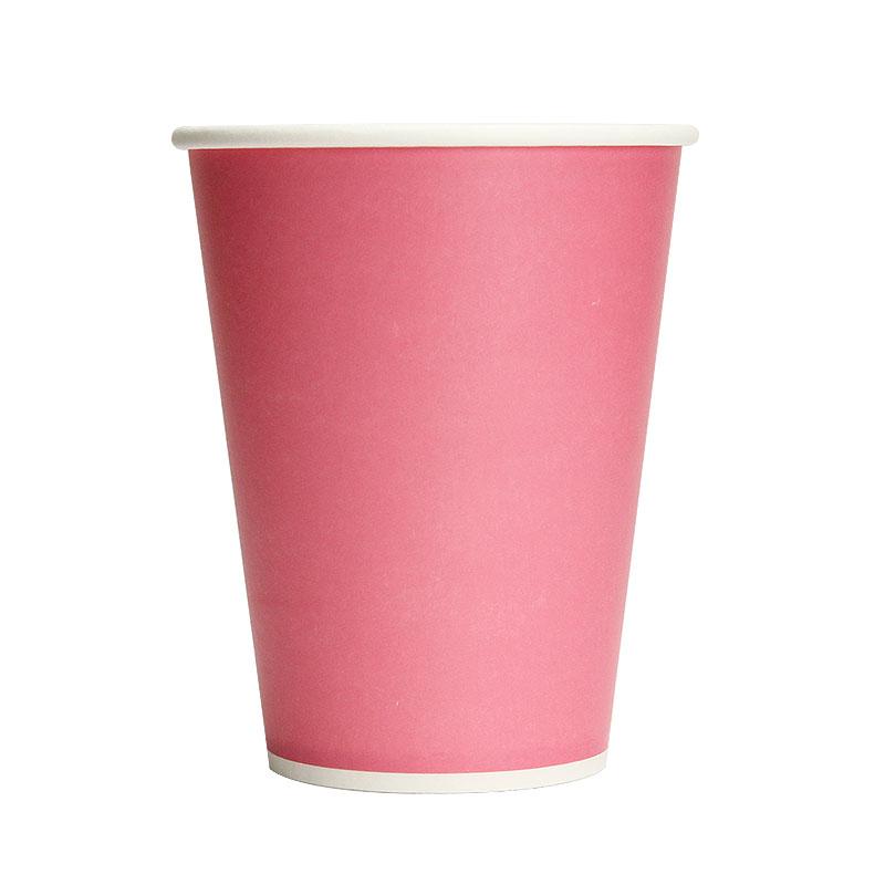 カラー紙コップ 12オンス ピンク 50個