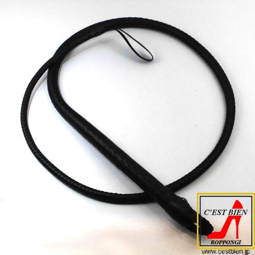 編込一本鞭 140cm(黒)