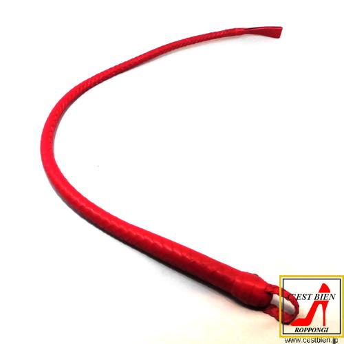 編込一本鞭 65cm(赤)
