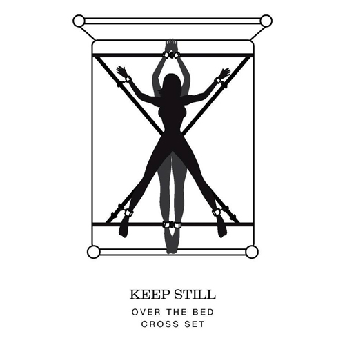 Fifty Shades of Grey : Keep Still Over the Bed Cross Restraint Silveer