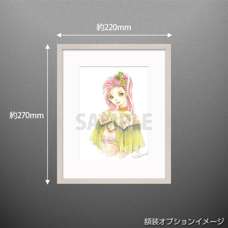 【限定1枚】「花柄ケープのお嬢さん」/内田美奈子 原画イラスト
