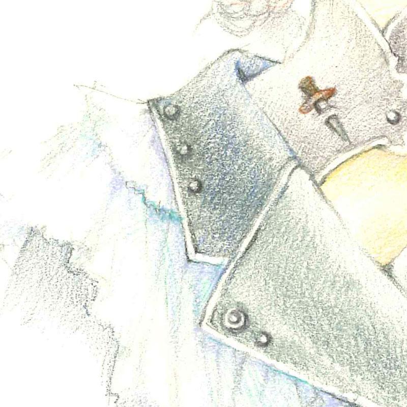 【限定1枚】「ふたつぼくろのお姉さん」/内田美奈子 原画イラスト