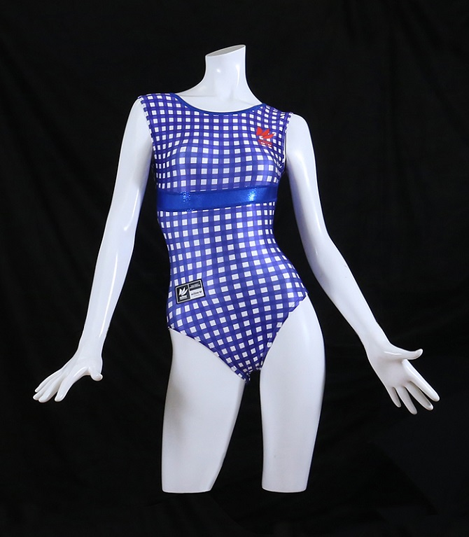 gingham check blue