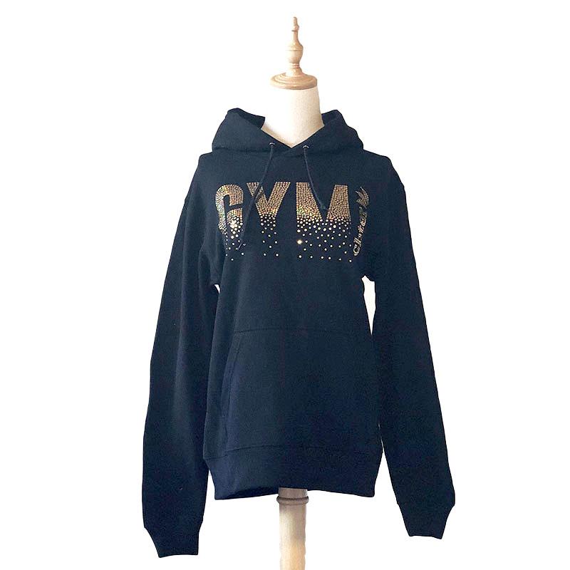 GYM ラメパーカー ブラック