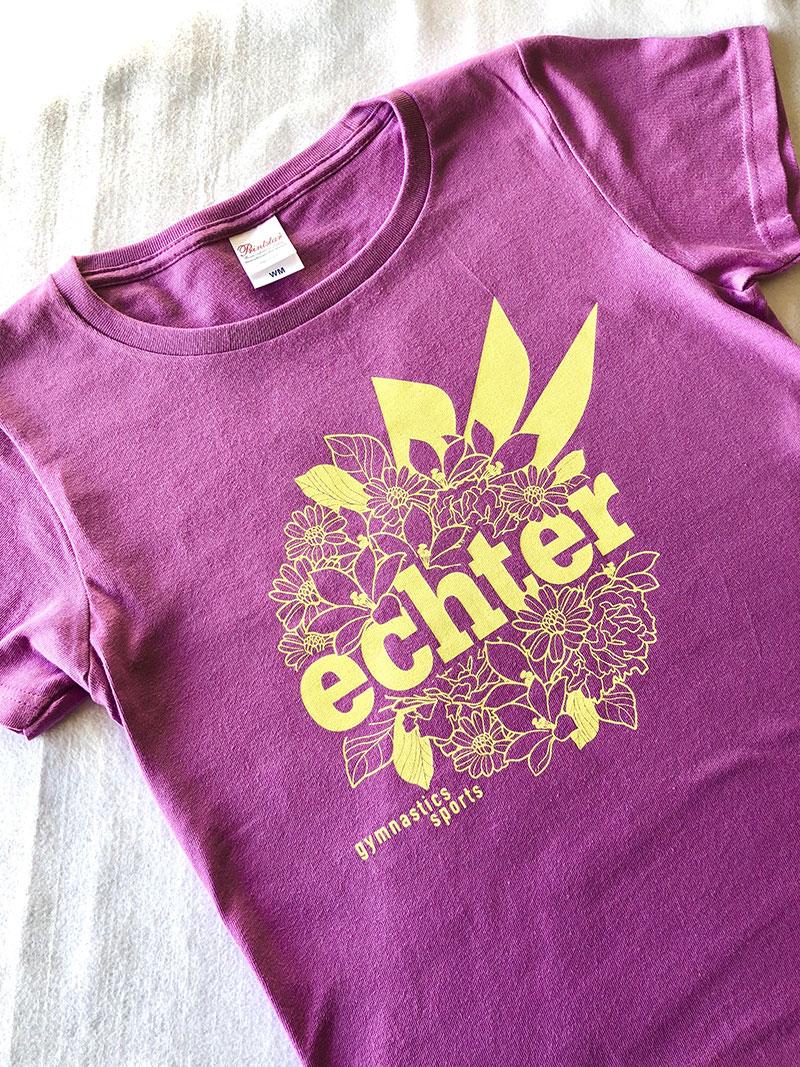 FLOWER LOGO TEE   lavender
