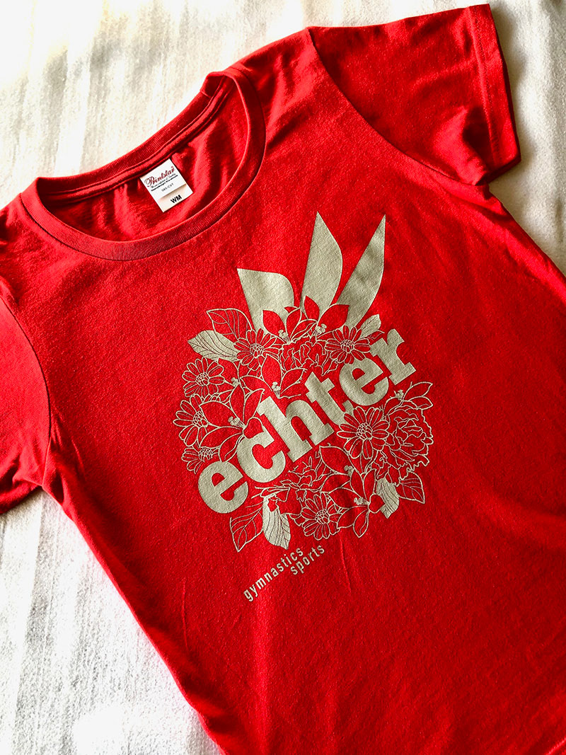 FLOWER LOGO TEE  Italian red