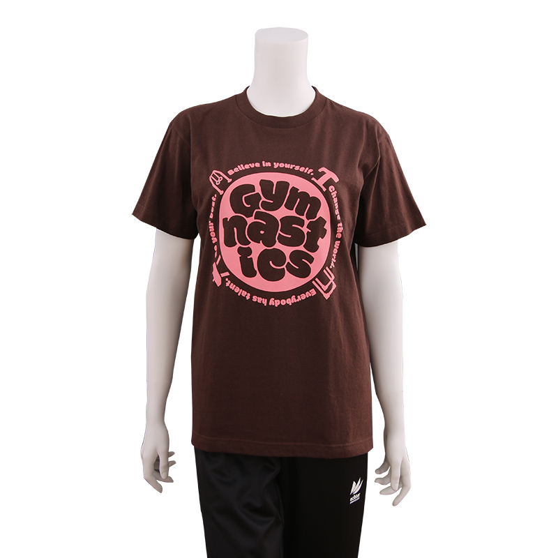 Earthly Tシャツ チョコレート×ピンク