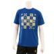 CHECK Tシャツ ロイヤルブルー×ゴールド
