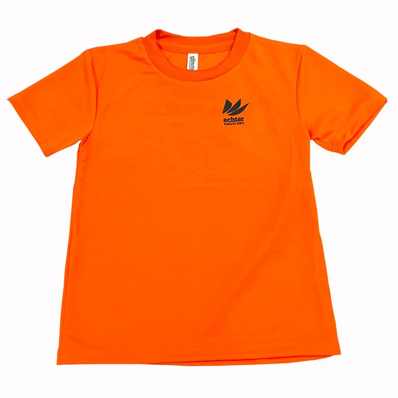 ジムフレンズTシャツ オレンジ 倒立バー