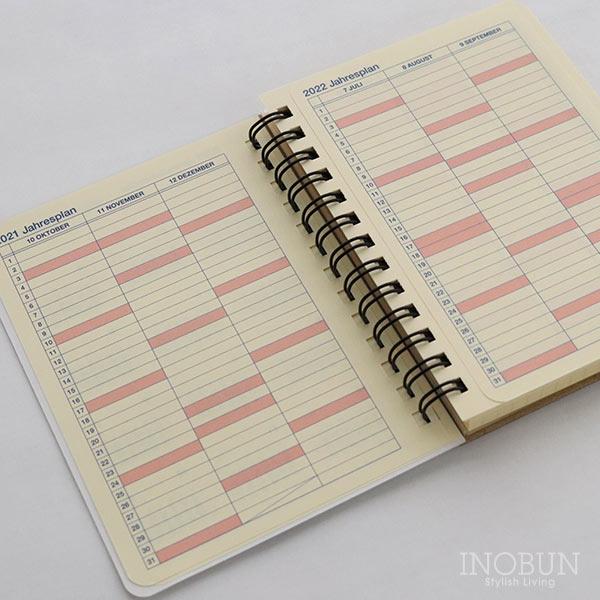2022年 スケジュール帳 ロルバーン M マンスリー 10月始まり 月曜始まり メレンダ ブルーグレー スイーツ