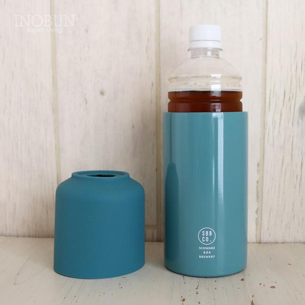 パース ステンレスサーモペットボトルホルダー 保温保冷 ブルー