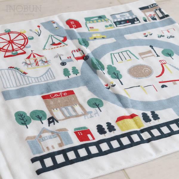 ずかんタオル ミニバスタオル 47 x 100cm まち 日本製 プールタオル こどもバスタオル