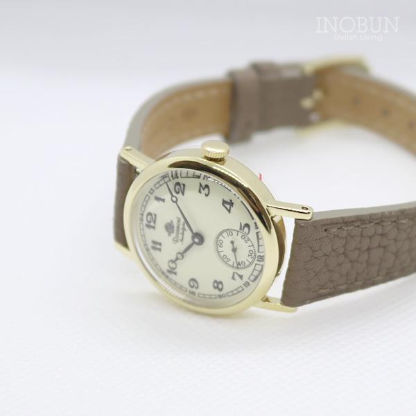 ロゼモン 腕時計 Rosemont Nostalgia Collection N008-YWA アンティークゴールド/グレーベージュベルト(レザー) FGB