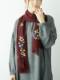 【SALE】ウール混花柄刺繍ショール B20W066
