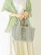 ビーズ刺繍ヘリンボーントートバッグ(2カラー) H21S300