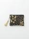 ハニカム刺繍フラットポーチ M42-1683