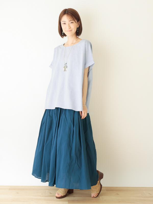 【30%OFF】朝顔刺繍 プルオーバー 21S119【ベージュ/ブルー残りわずか】