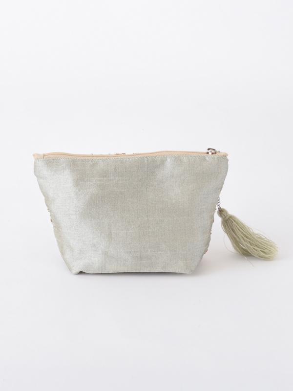 ビーズ刺繍ポーチ M42-1690