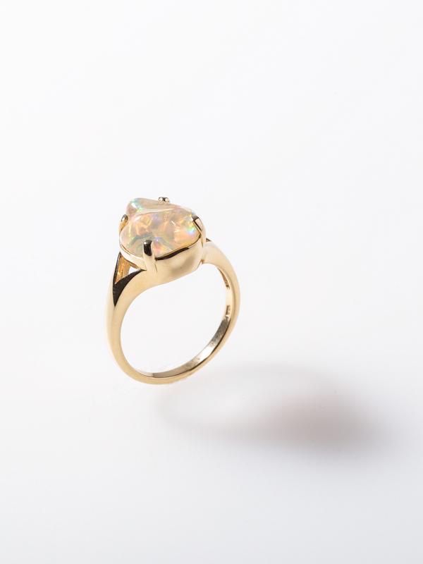 ゴールド(K18) オパール リング