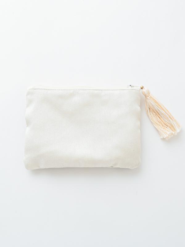 ビーズ刺繍ミニフラットポーチ M42-1762