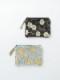 コットンベロア刺繍フラットポーチ M68-1660