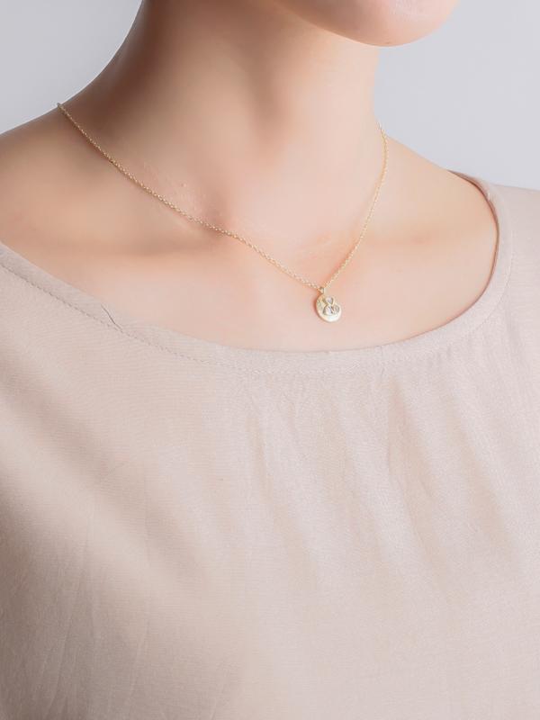 シルバー(ゴールド仕上げ)ダイヤモンドネックレス
