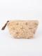 コットンベロア刺繍マチ付ポーチ M68-1663