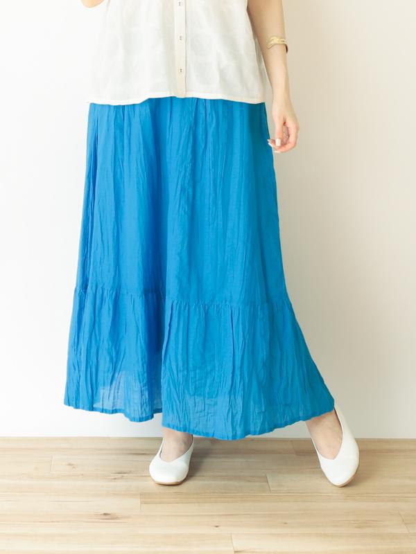 【30%OFF】コットンクリンクル スカート 20S804