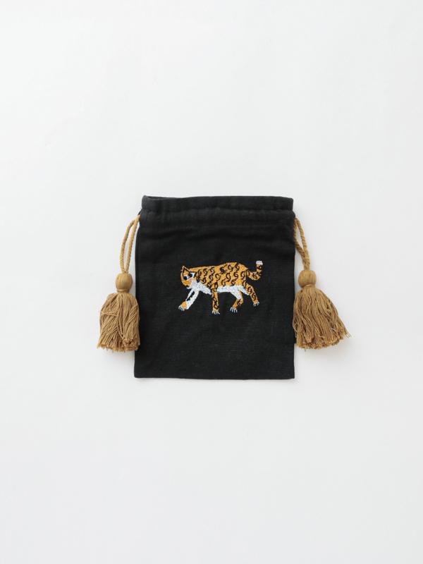 アニマル刺繍巾着S M26-1743
