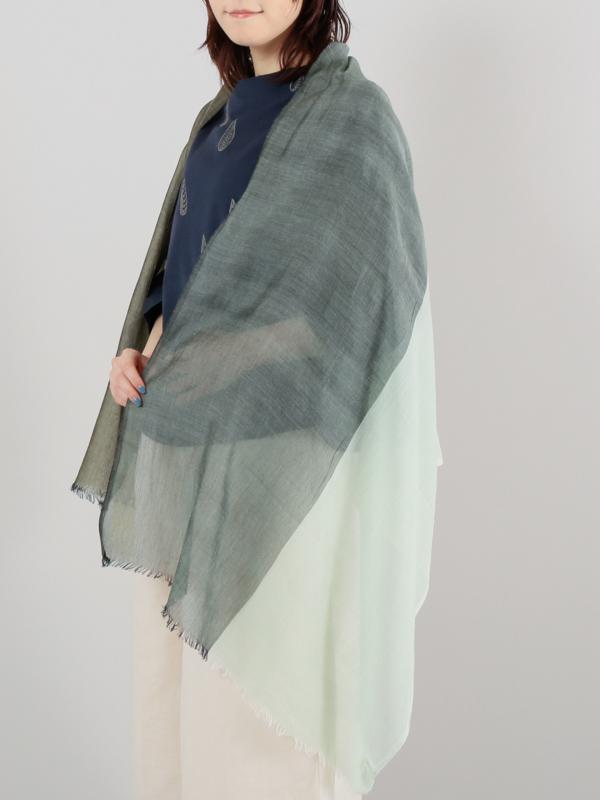 【40%OFF】コットンモダール カラーブロックショール
