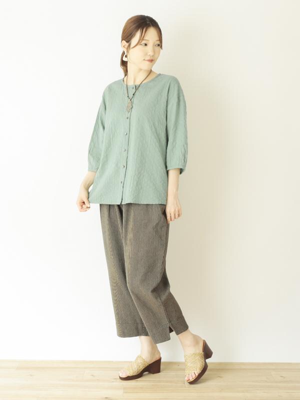 【20%OFF】サッカーストライプ シャツ 21S494