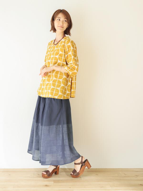 【20%OFF】朝顔プリント プルオーバー 21S505